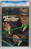 Silver Age (1956-1969):Mystery, Boris Karloff Thriller #1 (Gold Key, 1962) CGC VF 8.0 Off-white towhite pages....