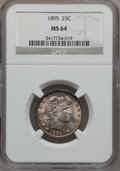 Barber Quarters: , 1895 25C MS64 NGC. NGC Census: (45/32). PCGS Population (48/29).Mintage: 4,440,880. Numismedia Wsl. Price for problem free...