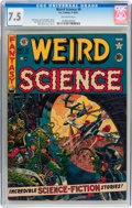 Golden Age (1938-1955):Science Fiction, Weird Science #9 (EC, 1951) CGC VF- 7.5 Off-white pages....