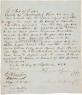 Miscellaneous:Ephemera, [Slavery]. Bill of Sale....