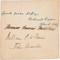 Autographs:Military Figures, Thomas Meagher Card Signed...