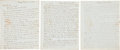 Miscellaneous:Ephemera, [John Quincy Adams] and [Mexican War]. Francis Baylies Three (3)Autograph Letters Signed... (Total: 3 Items)