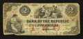 Obsoletes By State:Rhode Island, Providence, RI- Bank of the Republic $2 Aug. 17, 1855. ...