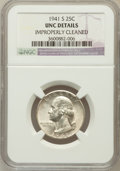 Washington Quarters, 1941-S 25C -- Improperly Cleaned -- NGC Details. UNC. NGC Census:(1/1041). PCGS Population (1/1351). Mintage: 16,080,000. ...