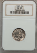 Buffalo Nickels: , 1925 5C MS65 NGC. NGC Census: (192/131). PCGS Population (481/214).Mintage: 35,565,100. Numismedia Wsl. Price for problem ...