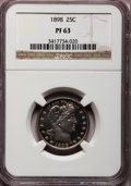 Proof Barber Quarters: , 1898 25C PR63 NGC. NGC Census: (20/140). PCGS Population (31/124). Mintage: 735. Numismedia Wsl. Price for problem free NGC...