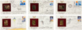 Autographs:Artists, Robert T. McCall: Collection of Six Signed Sketches on PostalCommemorative Society First Day Covers. ... (Total: 6 Items)