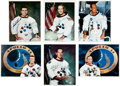 Autographs:Celebrities, Apollo Astronauts: Six Signed Color White Spacesuit Photos, all Uninscribed. ...