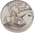 Explorers:Space Exploration, Apollo 1 Silver-Colored Fliteline Medallion from the PersonalCollection of Mission Pilot Roger Chaffee....