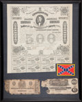 Confederate Notes:Group Lots, Framed Confederate Items.. ...
