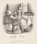 Pulp, Pulp-like, Digests, and Paperback Art, GARTH WILLIAMS (American, 1912-1996). The Long Winter, (TheLittle House Series), page 145 illustration, 1953. Pencil on...