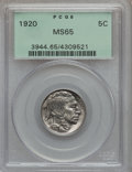 Buffalo Nickels: , 1920 5C MS65 PCGS. PCGS Population (224/119). NGC Census: (105/31).Mintage: 63,093,000. Numismedia Wsl. Price for problem ...