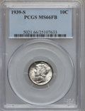 Mercury Dimes: , 1939-S 10C MS66 Full Bands PCGS. PCGS Population (103/32). NGCCensus: (22/10). Mintage: 10,540,000. Numismedia Wsl. Price ...