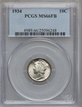 Mercury Dimes: , 1934 10C MS66 Full Bands PCGS. PCGS Population (394/190). NGCCensus: (148/68). Mintage: 24,080,000. Numismedia Wsl. Price ...