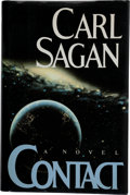 Books:Science Fiction & Fantasy, Carl Sagan. Contact. New York: Simon and Schuster, [1985].First edition, first printing. Warmly signed and inscri...