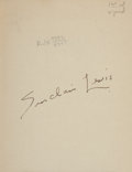 Books:Literature 1900-up, Sinclair Lewis. Dodsworth. New York: Harcourt, Brace andCompany, [1929]. First trade edition. Signed by Lewis on ...