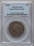 Large Cents: , 1828 1C Large Narrow Date AU55 PCGS. PCGS Population (22/35). NGCCensus: (20/74). Mintage: 2,260,624. Numismedia Wsl. Pric...