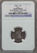 Bust Dimes: , 1835 10C -- Improperly Cleaned -- NGC Details. AU. JR-6. NGCCensus: (16/366). PCGS Population (48/283). Mintage: 1,410,00...