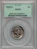 Buffalo Nickels: , 1928-D 5C MS65 PCGS. PCGS Population (336/39). NGC Census: (141/4).Mintage: 6,436,000. Numismedia Wsl. Price for problem f...