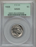 Buffalo Nickels: , 1928 5C MS65 PCGS. PCGS Population (505/208). NGC Census: (210/56).Mintage: 23,411,000. Numismedia Wsl. Price for problem ...