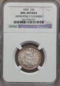 Seated Quarters: , 1890 25C -- Improperly Cleaned -- NGC Details. Unc. NGC Census:(0/155). PCGS Population (1/162). Mintage: 80,000. Numismed...