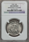 Walking Liberty Half Dollars: , 1920 50C -- Improperly Cleaned -- NGC Details. Unc. NGC Census:(5/583). PCGS Population (8/740). Mintage: 6,372,000. Numis...