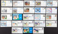Autographs:Post Cards, Brooklyn Dodger Greats Signed First Day Covers Lot of 23....