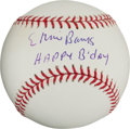 "Autographs:Baseballs, Ernie Banks ""Happy Birthday"" Single Signed Baseball..."