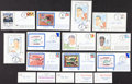 Autographs:Post Cards, Baseball Greats Signed First Day Covers And Business Cards....