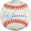 Autographs:Baseballs, Baseball Legendary First Baseman Multi Signed Baseball....