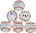 Autographs:Baseballs, Baseball Greats Single Signed Baseballs Lot Of 6....