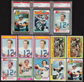 Football Cards:Lots, 1972-1978 Roger Staubach Card Collection (13) With Five Rookies. ...