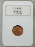 Lincoln Cents: , 1914 1C MS65 Red NGC. NGC Census: (43/12). PCGS Population(105/54). Mintage: 75,238,432. Numismedia Wsl. Price for problem...