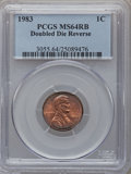 Lincoln Cents: , 1983 1C Doubled Die Reverse MS64 Red and Brown PCGS. PCGSPopulation (65/11). Numismedia Wsl. Price for...
