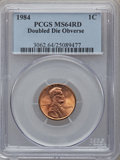 Lincoln Cents: , 1984 1C Doubled Die Obverse MS64 Red PCGS. PCGS Population(89/957). NGC Census: (24/329). Mintage: 8,151,078,912. Numismed...
