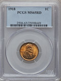 Lincoln Cents: , 1918 1C MS65 Red PCGS. PCGS Population (238/123). NGC Census:(102/26). Mintage: 288,104,640. Numismedia Wsl. Price for pro...
