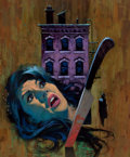 Pulp, Pulp-like, Digests, and Paperback Art, JACK THURSTON (American, 20th Century). Mark of Murder,paperback cover, 1969. Gouache on board. 11.5 x 9.5 in.. Notsig...