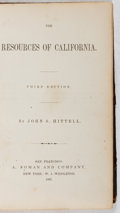 Books:Americana & American History, John S. Hittell. SIGNED. The Resources of California. A. Roman and Company, 1867. Third printing. Signed by the ...