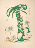 Prints:Contemporary, CLAES OLDENBURG (American, b. 1929). Sneaker Lace in Landscapewith Palm Trees, 1990. Color lithograph. 57 x 42-1/2 inch...