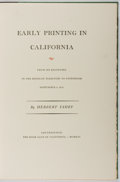 Books:Books about Books, Herbert Fahey. LIMITED. Early Printing in California. TheBook Club of California, 1956. First edition of 400 co...