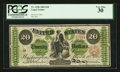Large Size:Legal Tender Notes, Fr. 124b $20 1862 Legal Tender PCGS Very Fine 30.. ...