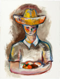 Latin American:Contemporary, ROLANDO DIAZ (Cuban/American, 20th Century). Mango Boy ,2012. Mixed media on paper . 29-3/4 x 22 inches (75.6 x 55.9 cm...(Total: 2 Items)