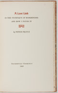 Books:Books about Books, [Books About Books]. Peter Franck. LIMITED A Lost Link in theTechnique of Bookbinding and How I Found It. Gaylo...
