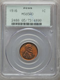 Lincoln Cents: , 1916 1C MS65 Red PCGS. PCGS Population (380/229). NGC Census:(252/66). Mintage: 131,833,680. Numismedia Wsl. Price for pro...