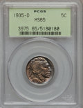 Buffalo Nickels: , 1935-D 5C MS65 PCGS. PCGS Population (430/147). NGC Census:(267/37). Mintage: 12,092,000. Numismedia Wsl. Price for proble...