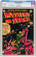 Golden Age (1938-1955):Science Fiction, Mystery in Space #3 (DC, 1951) CGC VF- 7.5 Off-white pages....