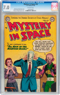 Golden Age (1938-1955):Science Fiction, Mystery in Space #20 (DC, 1954) CGC FN/VF 7.0 Off-white pages....
