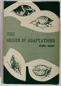 Books:Natural History Books & Prints, Verne Grant. The Origin of Adaptations. New York: Columbia University, 1963. First edition. Publisher's binding, dus...