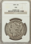 Morgan Dollars: , 1899 $1 Good 6 NGC. NGC Census: (8/8062). PCGS Population(3/10798). Mintage: 330,846. Numismedia Wsl. Price for problemfr...