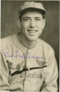 """Autographs:Photos, Paul """"Daffy"""" Dean Signed Photograph. Paul """"Daffy"""" Dean, brother ofDizzy Dean, pitched a No-Hitter in the major leagues and..."""